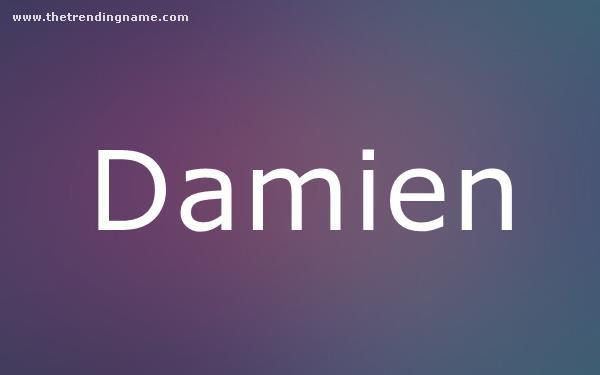 Baby Name Poster For Damien