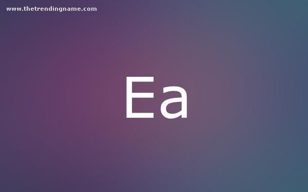 Baby Name Poster For Ea