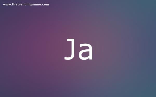 Baby Name Poster For Ja