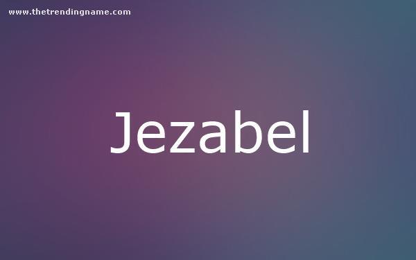Baby Name Poster For Jezabel