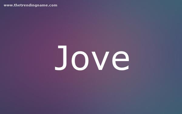 Baby Name Poster For Jove