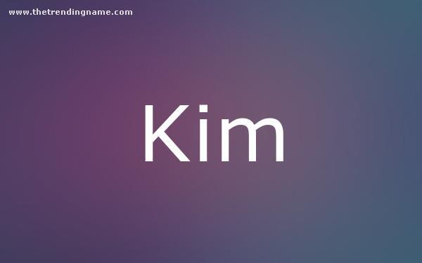 Baby Name Poster For Kim
