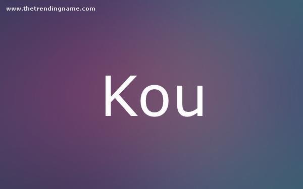 Baby Name Poster For Kou