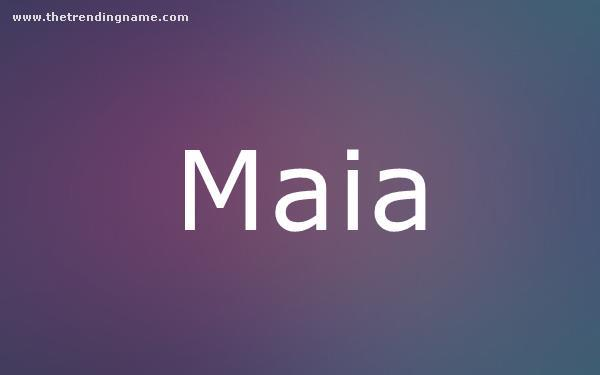 Baby Name Poster For Maia