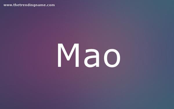 Baby Name Poster For Mao
