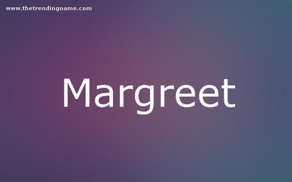 Baby Name Poster For Margreet