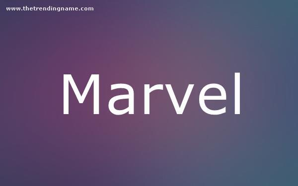 Baby Name Poster For Marvel