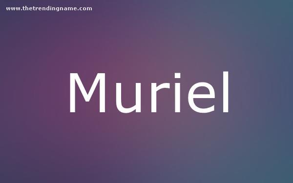 Baby Name Poster For Muriel