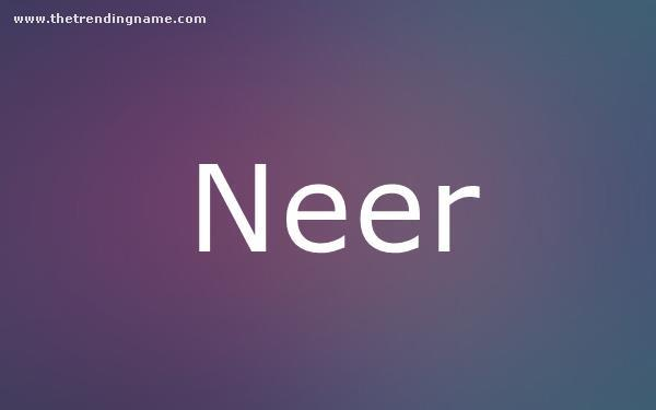 Baby Name Poster For Neer