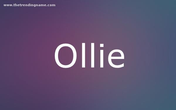 Baby Name Poster For Ollie