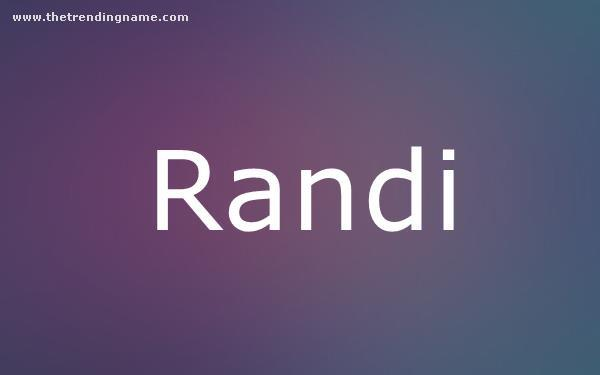Baby Name Poster For Randi