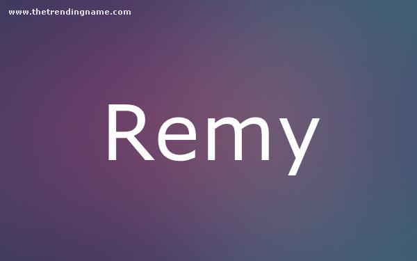 Baby Name Poster For Remy
