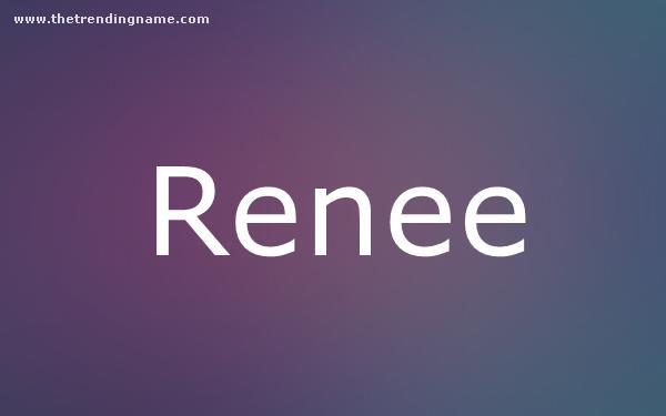 Baby Name Poster For Renee