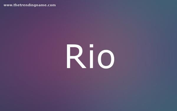 Baby Name Poster For Rio