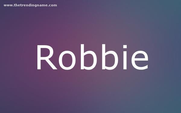 Baby Name Poster For Robbie