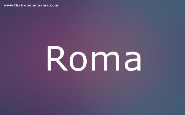 Baby Name Poster For Roma