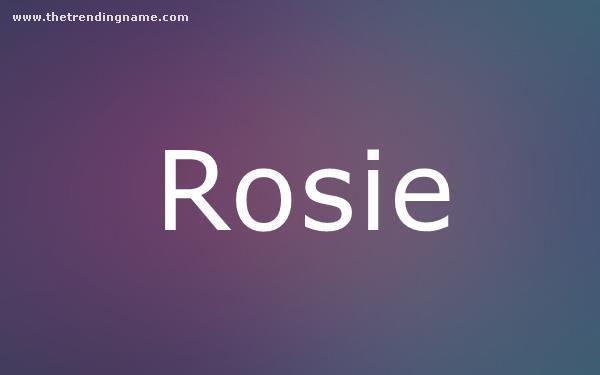 Baby Name Poster For Rosie