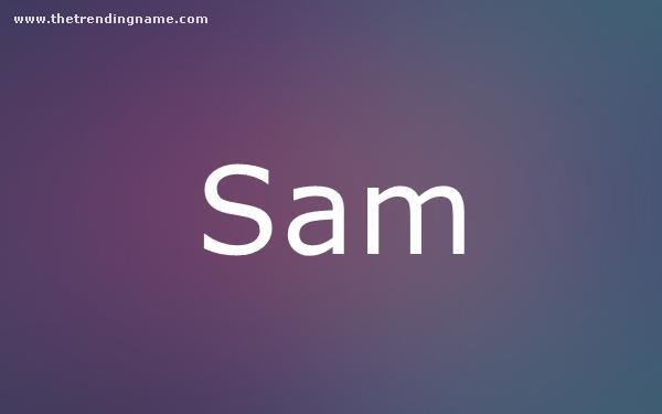Baby Name Poster For Sam