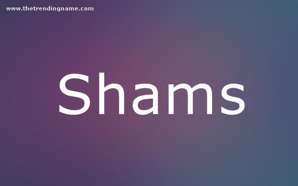 Baby Name Poster For Shams