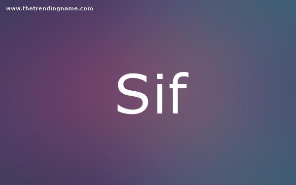 Baby Name Poster For Sif
