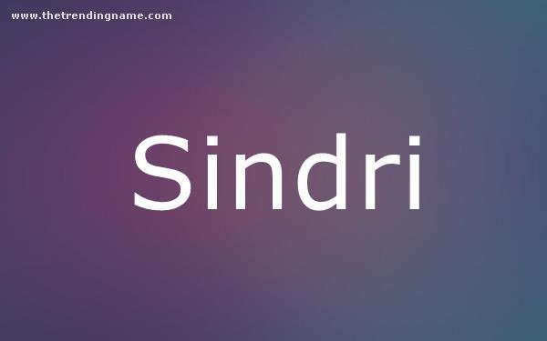 Baby Name Poster For Sindri