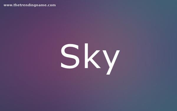 Baby Name Poster For Sky