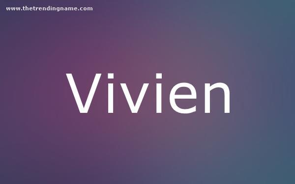 Baby Name Poster For Vivien