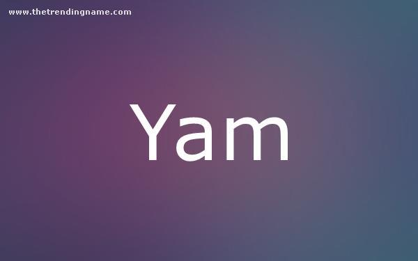 Baby Name Poster For Yam