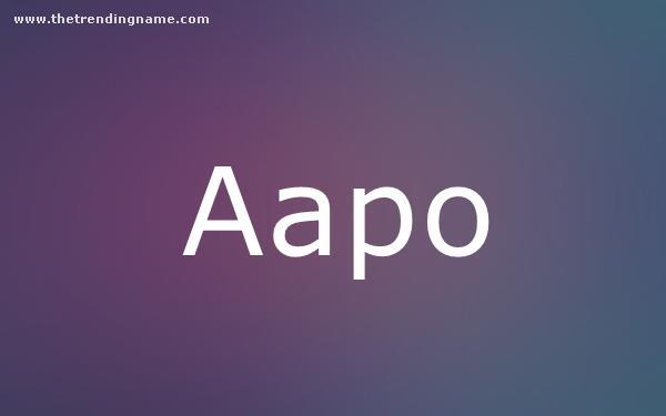 Baby Name Poster For Aapo