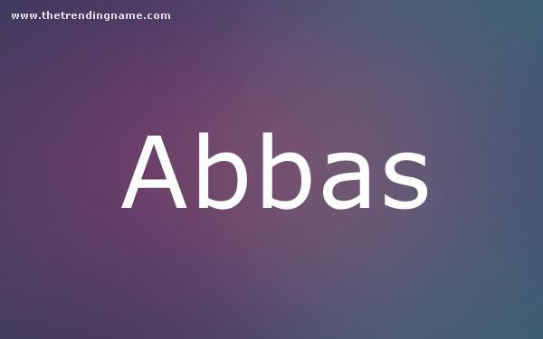 Baby Name Poster For Abbas