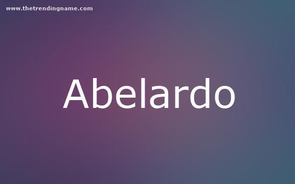 Baby Name Poster For Abelardo