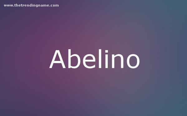 Baby Name Poster For Abelino