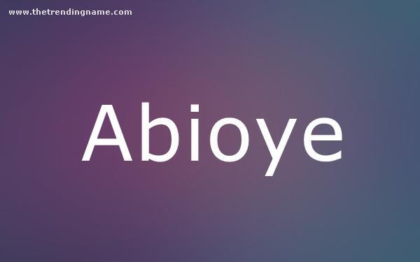 Baby Name Poster For Abioye