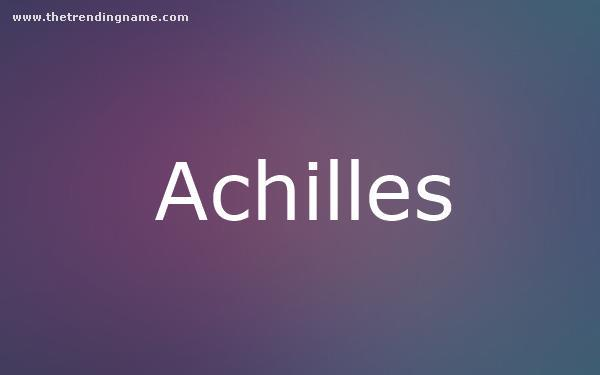 Baby Name Poster For Achilles