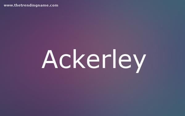 Baby Name Poster For Ackerley