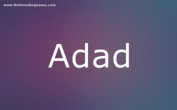Baby Name Poster For Adad