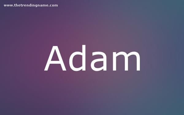 Baby Name Poster For Adam