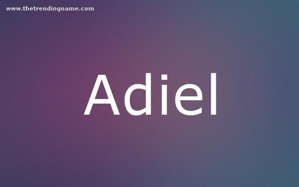 Baby Name Poster For Adiel