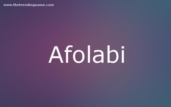 Baby Name Poster For Afolabi