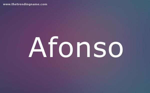 Baby Name Poster For Afonso