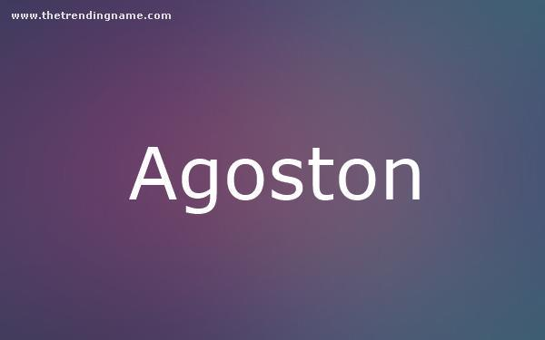 Baby Name Poster For Agoston