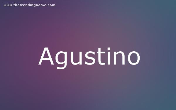 Baby Name Poster For Agustino