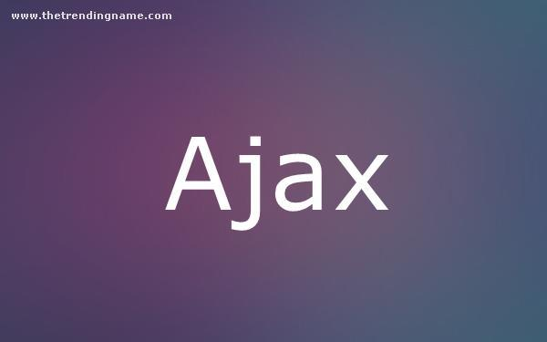 Baby Name Poster For Ajax