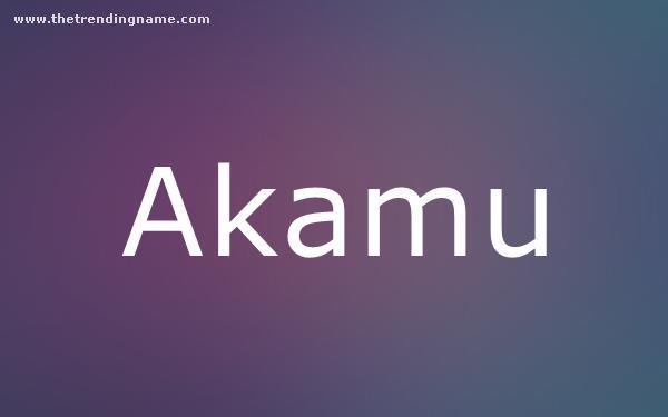 Baby Name Poster For Akamu