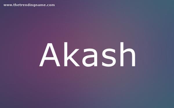 Baby Name Poster For Akash