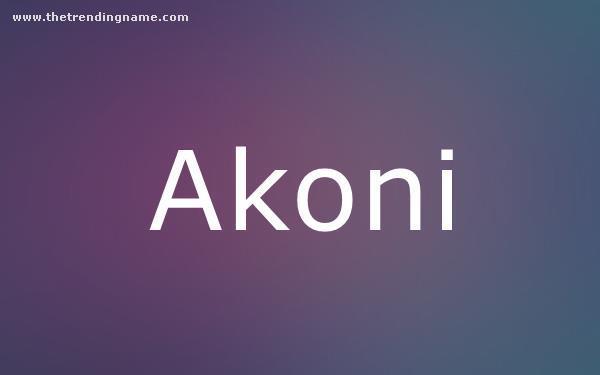 Baby Name Poster For Akoni