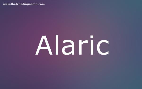 Baby Name Poster For Alaric
