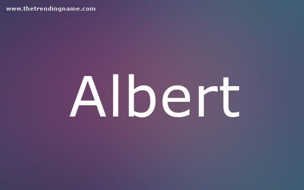Baby Name Poster For Albert