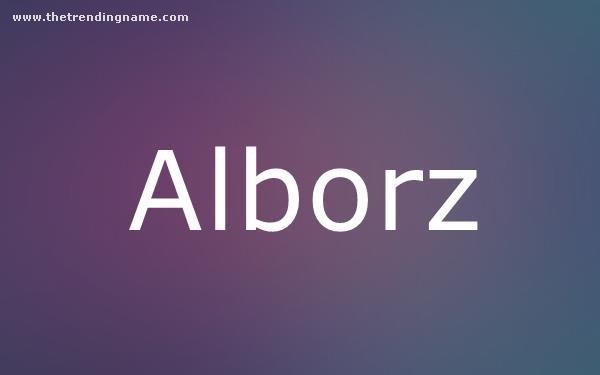 Baby Name Poster For Alborz