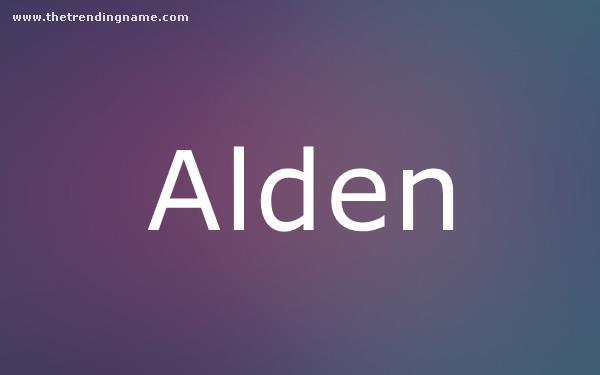 Baby Name Poster For Alden